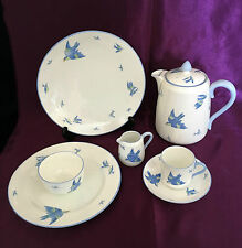Williamsons  'Blue' Bird 7pc Coffee set for 1  - Amazing Art Nouveau! Rg 557909