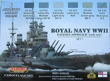 Lifecolor Acrylics LC-CS33 Royal Navy WW2  Paint set 1
