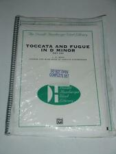 TOCCATA and FUGUE in D MINOR BWV 565 J. S. BACH Concert Band Cond. Score & Parts