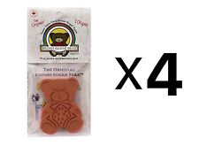 Harold Import Brown Sugar Bear Saver Keeper Cookies Sugar Reusable (4-Pack)