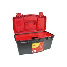 Large Plastic Tool Box Chest Set Lockable Removable Storage Compartments UK