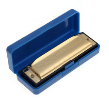 Special Swan Harmonica 10 Holes Key Of G with Case Golden