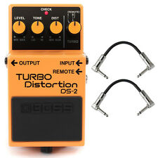 Boss DS-2 Turbo Distortion Guitar Effect Pedal Stompbox Footswitch +Patch Cables