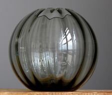 Vintage 60-70's WMF RAUCHGLAS Crystal Ball Vase West German Art Fat Lava Era