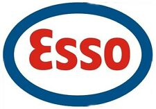 Esso Oval Logo GIANT peel-off vinyl sticker / decal (ff)
