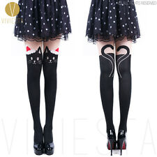 CHRISTMAS SANTA CLAUS CAT TIGHTS - 60D Women's Party Gift Xmas Kitten Pantyhose