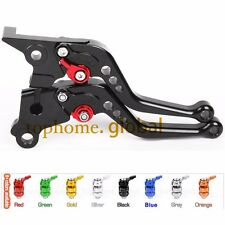 Short Clutch Brake Levers For Yamaha VMAX 1200 1985-2007 Black CNC Adjustable