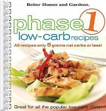 Phase 1 Low-Carb Recipes, Better Homes and Gardens Books, Good Book