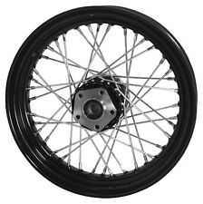 "Rear 16 x 3 40 Spoke Black Rim Hub Wheel 3/4"" Harley Dyna Softail Sportster 00-0"