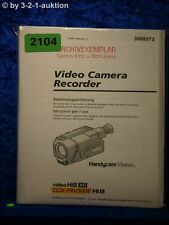 Sony Bedienungsanleitung CCD TRV300E Video Camera Recorder (#2104)