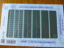 Microscale Decal HO #87-1407 Texture Overlay Decal -- Solar Panel Texture-Genera