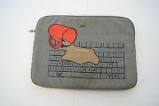 American Eagle Outfitters Portfolio 10 1/2 x 14 inches Gray Oops Keyboard Coffee