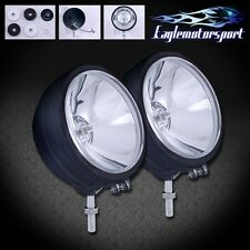 "2 PCS Round 6"" 4X4 55w Black Offroad SUV/Truck/Jeep Spot Fog Lights w/Bulbs"