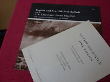 A L Lloyd & Ewan Maccoll:  English And Scottish Folk Ballads  UK Topic LP + Book