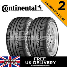 2x NEW 215 45 17 CONTINENTAL CONTISPORT CONTACT 5 87W TYRES 215/45R17 (2 TYRES)