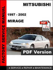 MITSUBISHI MIRAGE 1997 - 2002 FACTORY SERVICE REPAIR WORKSHOP OEM FSM MANUAL