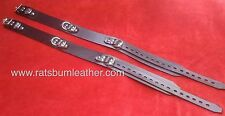Pair THIGH RESTRAINT Leather LOCKABLE ADULT SET 50 shades of grey wrist ankle