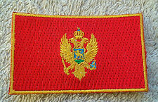 MONTENEGRO FLAG PATCH Embroidered Badge Iron Sew 4.5cm x 6cm Црна Гора Crna Gora