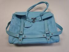 JUICY COUTURE BLUE LEATHER LARGE PURSE W/ STORAGE BAG