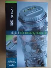 Emerson Digital Coin Counting Money Jar