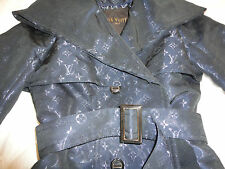 LOUIS VUITTON SHORT IRIDESCENT BLUE TRENCH FR.38 NWT!!
