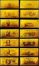 Dollar Set 999.9 Gold 24 Karat Banknoten USA