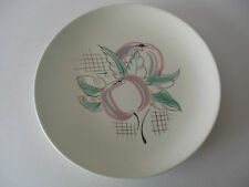 "POOLE FREEFORM 10"" FLOWERS PLATE - ARTIST MARKS TO BACK"