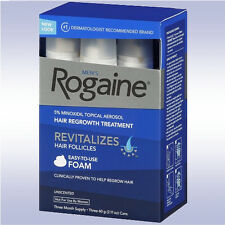 ROGAINE MEN'S FOAM (3 MONTH SUPPLY) 5% minoxidil topical men regaine grow hair