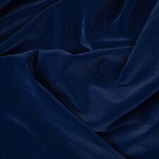Navy Velvet Flocking Drapery Upholstery Fabric - Sold By The Yard - 60""