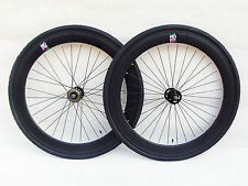 NOLOGO BLACK 60MM Single Speed wheelsets Fixed Fixie 700c flip-flop hub wheelset