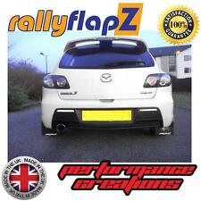 Schmutzfänger Rally MAZDA 3 MPS 07-09 Mk1 Schlamm Klappen Schwarz Logo Weiss 4mm