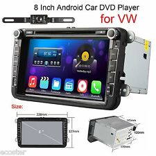 "Camera + 8"" 2Din Android 4.4 OS car DVD Player WIFI/3G Radio iPod BT GPS For VW"