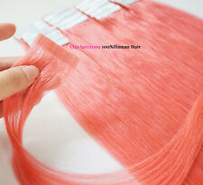 """16""""-24"""" Tape in Real Remy Human Hair Extensions Straight 20pcs USA Stoct"""