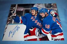New York Rangers Michael Del Zotto Signed Autographed 8x10 Photo JSA