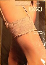 Wolford Affaire Lace Top nylon Sheen Stockings Small Marmor 10 denier
