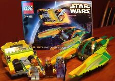 LEGO STAR WARS EPISODE II 7133 BOUNTY HUNTER PURSUIT - COMPLETE W INSTRUCTIONS
