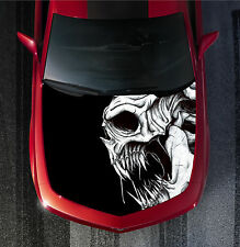H19 SKULL Hood Wrap Wraps Decal Fiber Sticker Tint Vinyl Image Graphic Carbon