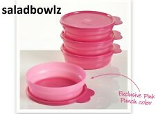 TUPPERWARE New MICROWAVE CEREAL BOWLS w/ Seals! in PINK PUNCH fREEsHIP!