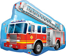 """Giant 36"""" Red Fire Truck Foil Balloon Qualatex Licensed Party Birthday"""