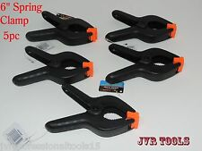 "5pc SUPER GRIP Spring Clamps 6"" inch NEW Hand Tools set"
