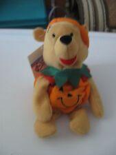 Disney Pooh Beanie in Pumpkin Pooh Beanbag NWT