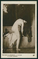 art Henner nude bathing Suzanne old c1910s Salon type postcard Luxembourg Museum