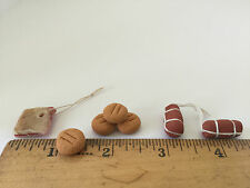Dollhouse Miniature Bread Salami Bacon Pancetta Food Market Hand made in Italy