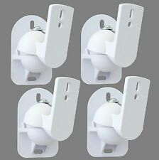 4 White Surround sound speaker wall brackets Universal
