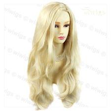 Wiwigs Fabulous Light Blonde Long Wavy Layered Skin Top Ladies Wig