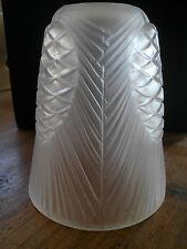 ancienne tulipe en verre pour lampe ou lustre art déco 1930