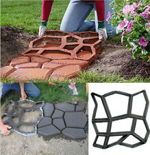 Paving Mold Garden Patio Driveway Concrete Stepping Stone Cement Molds