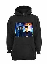 L@@K! David Tennant Hoodie - Black - Size 3XL - The Doctor, Dr Who, 10, Tardis