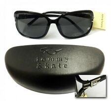 Tommy and Kate Woman's Black Fashion Sunglasses & Soft Protective Hard Case New