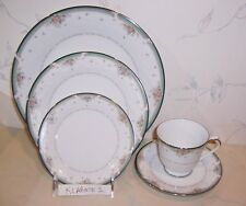 NEW Noritake GREENBRIER 5 Piece Place Setting (S), Dinner Salad Bread Cup Saucer
